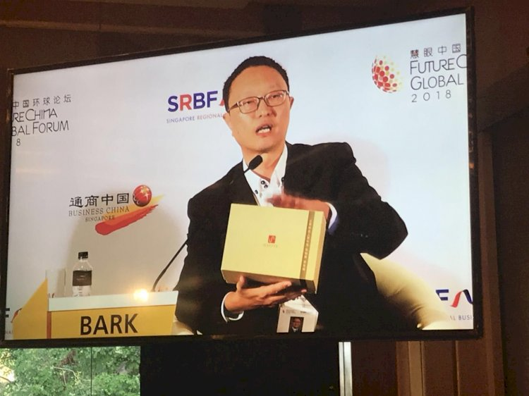 Charles Bark spoke at Future China Global Forum 2018 in Singapore
