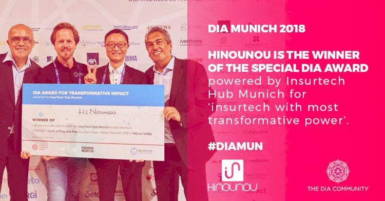 HiNounou wins Digital Insurance Agenda Munich's first Special Award for Most Transformative Impact